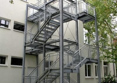 Stahlbau-Treppenanlage